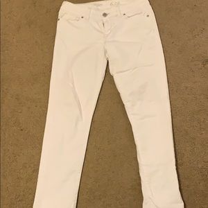 The Limited Straight Leg White Jean